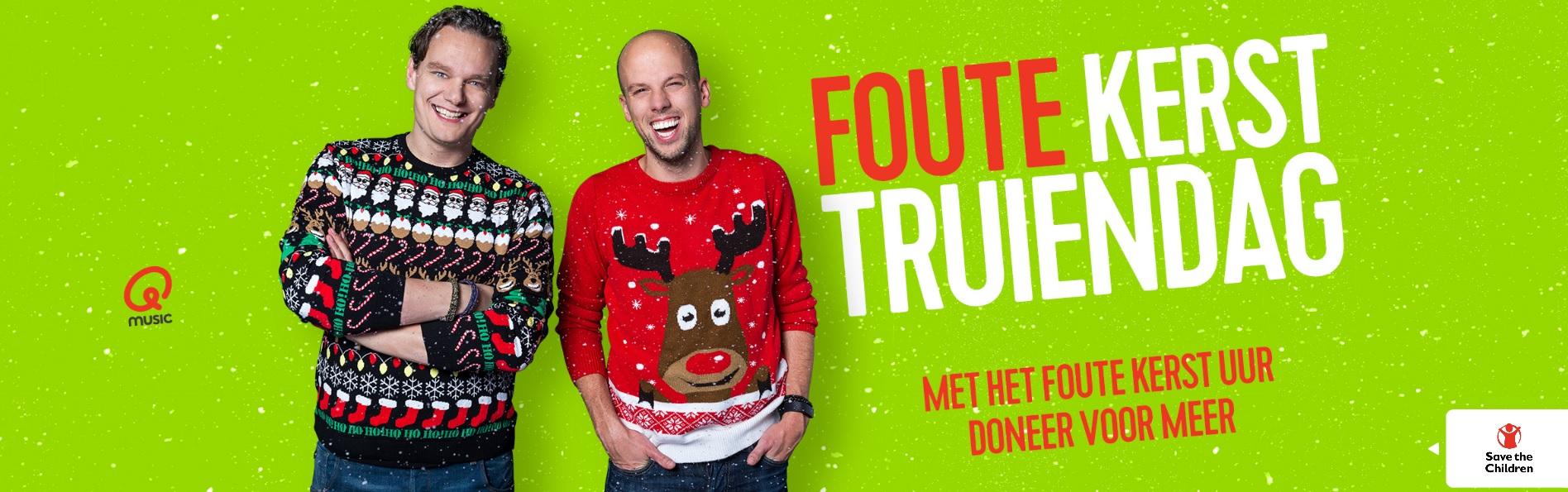 Foute Kersttrui Postcodeloterij.Save The Children Qmusic Draait Foute Kerstmuziek Voor Save The
