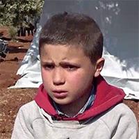 Hasan* van negen woont in Idlib en maakte een bombardement op zijn school mee