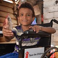 De 11-jarige Rami is een jongen met een handicap. Hij leeft met zijn ouders, zusje en drie broers in de provincie Al Hodeidah in Jemen. Hij was nog maar 11 maanden oud toen hij hersenvliesontsteking kreeg. <a href=