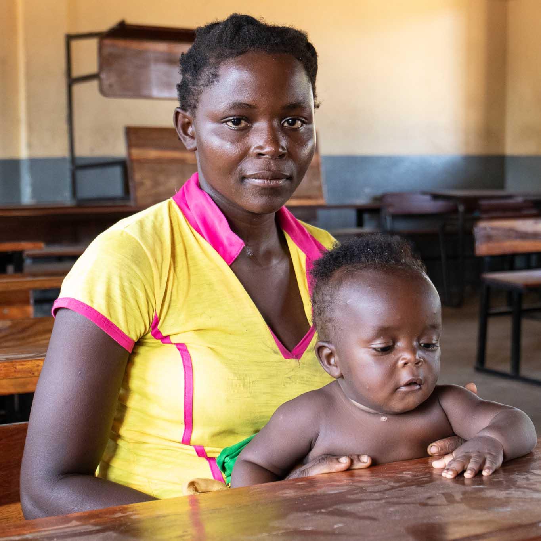 Roda uit Mozambique heeft een familie-pakket ontvangen