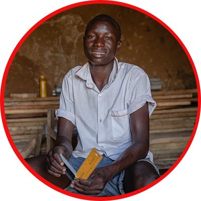 - Gilbert, 17 jaar, Oeganda -